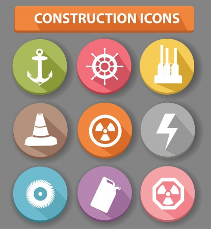 Construction buttons,colorful version,vector