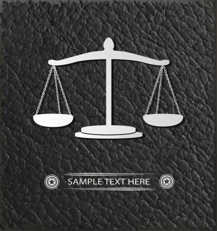 delincuencia: Escalas de símbolo de la justicia, vector Vectores