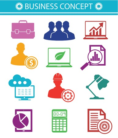 Business Concept icons,Colorful style Vector