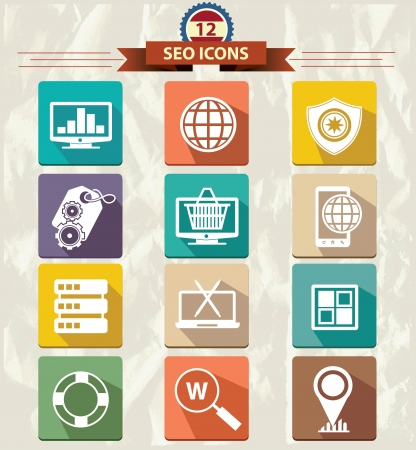 SEO Marketing buttons,vector Vector