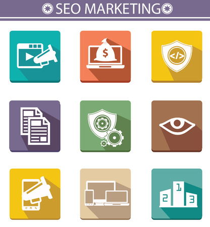 Seo marketing icons,vector Vector