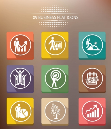 Human resource shadow icons,vector Vector