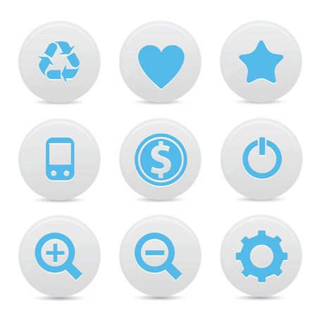 Website buttons,Blue version,vector Vector