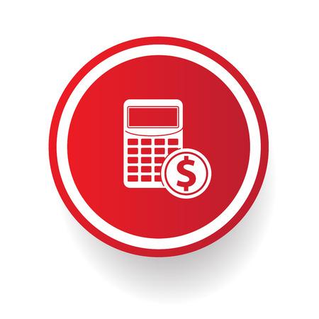 compute: Calculator button,vector Illustration