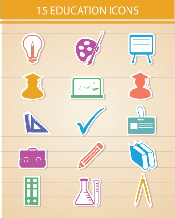 Education icons,Colorful version,vector Vector