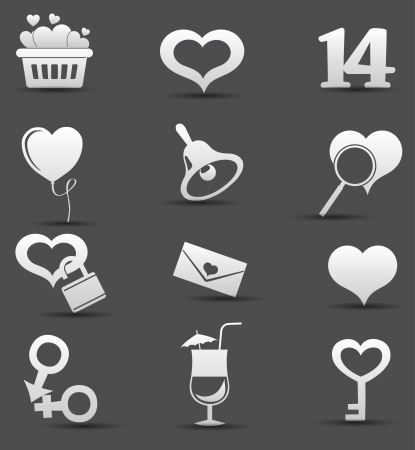 Valentine icons,vector Vector