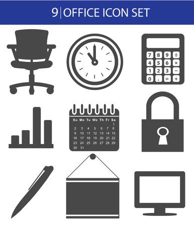 icone office: Office icon set, vector