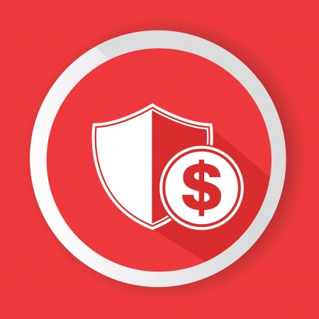 Protect money symbol,vector