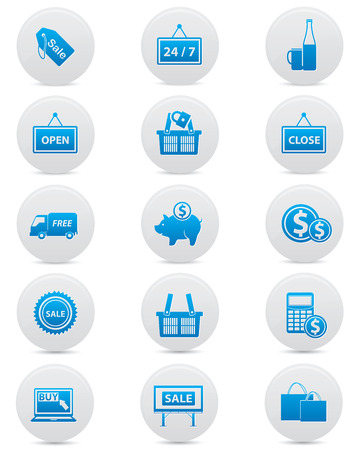 Marketing icons,Blue version,vector Vector