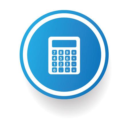 calculator icon: Calculator button,vector Illustration