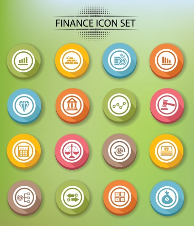 e auction: Finance icons,Colorful version,vector Illustration