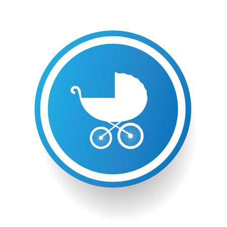Stroller symbol,vector Vector