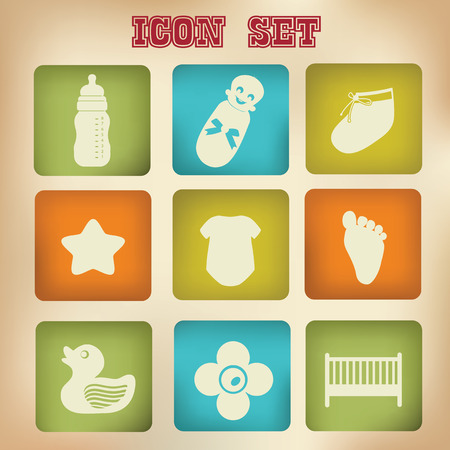 Baby   Toy icons,vector Vector