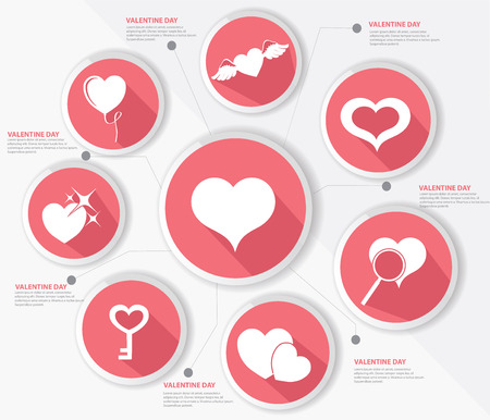 Hearth,Valentine design,Pink version,vector Vector