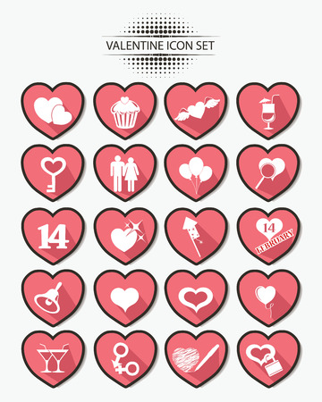 Valentine buttons,Pink version,vector Vector