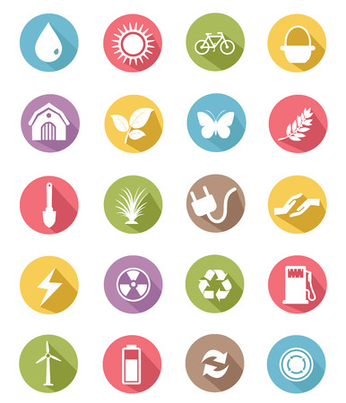 Ecology icons,Green version,vector Vector