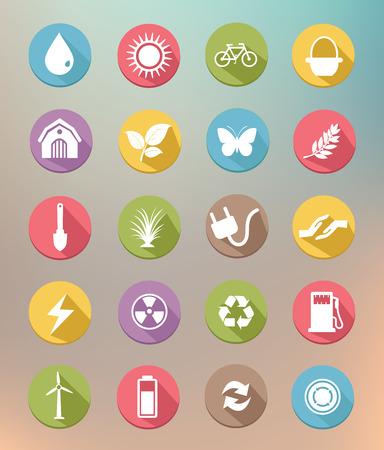 Ecology icons,Green version,vector Vector