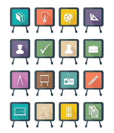 Blackboard Education icons,Colorful version,vector Vector