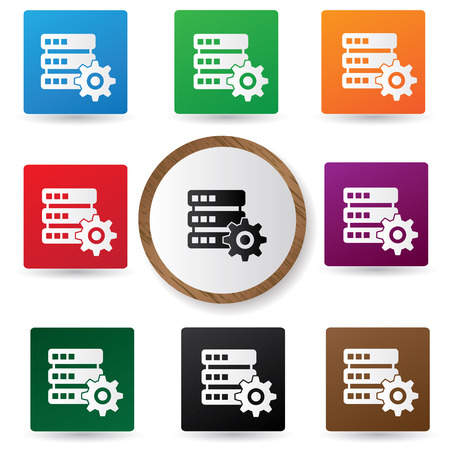 Database control buttons,vector Vector
