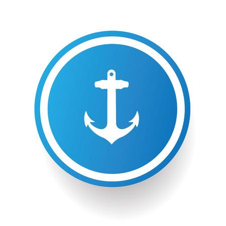 Anchor symbol,vector Vector