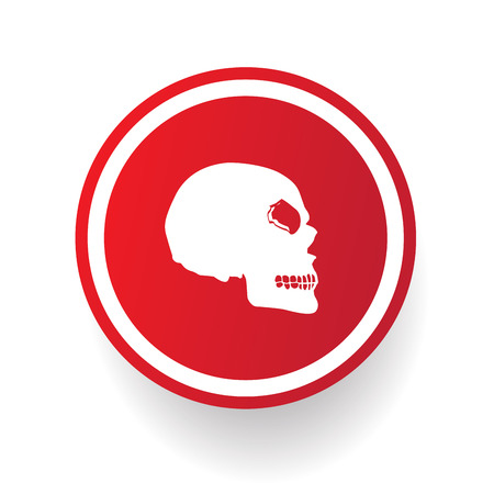 Scull button,vector Vector