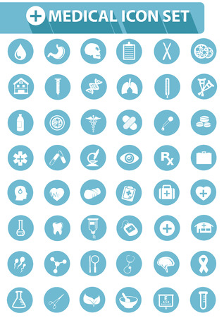 Medical icons,Blue version,vector Stock Vector - 25936638