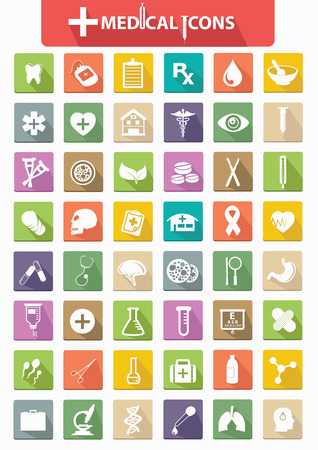 Healthy   Medical icons,Flat version,vector Stock Vector - 25936645