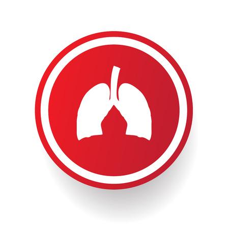 Lung button,vector Stock Vector - 25936821