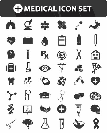 Medical icons,Black version,vector Stock Vector - 25936825