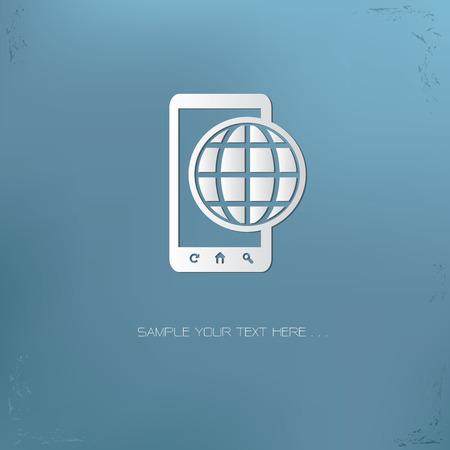 Global mobile symbol,vector Çizim