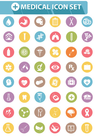 Medical icons,Colorful version,vector Vector