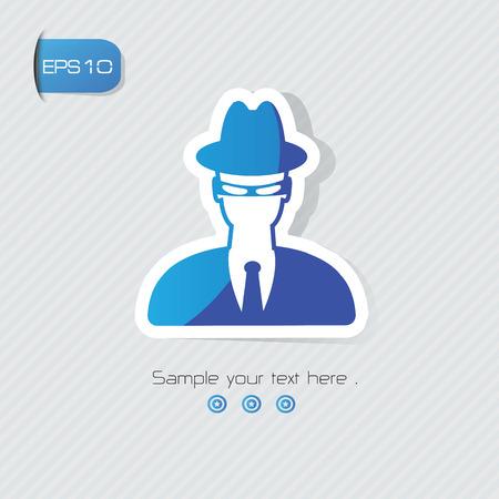 incognito: Hacker symbol,vector