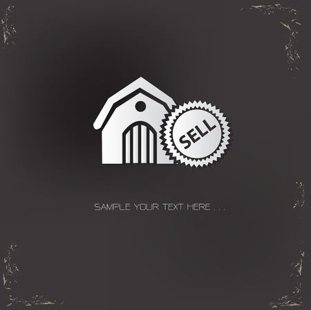 sell house: Sell,House symbol,vector Illustration