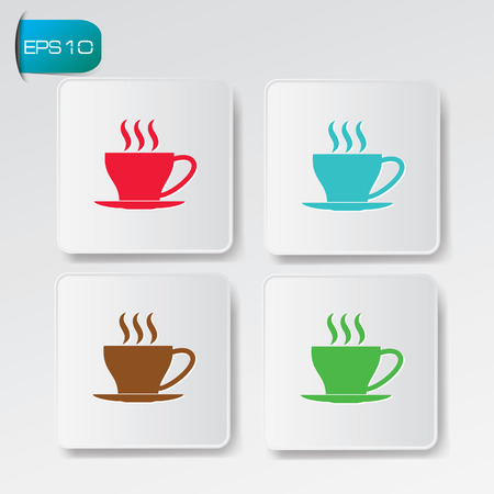 Coffee buttons Vector