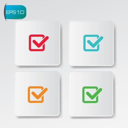 to tick: Revise la lista de botones