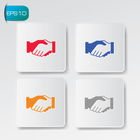 Shake hands buttons Vector