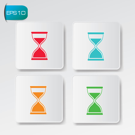 Hourglass buttons Vector