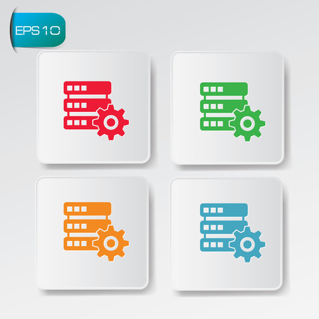 Database buttons Vector