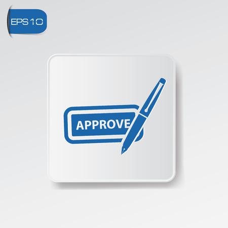 approbation: Approva simbolo Vettoriali