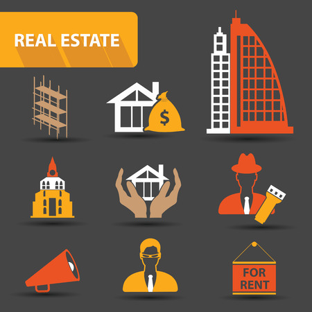 property for sale: Real estate icons Illustration