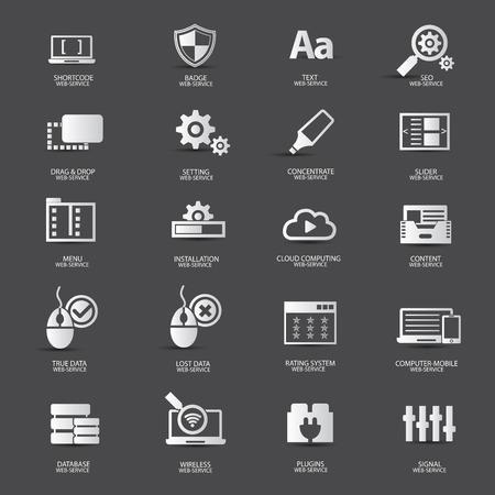 Web design,Web service icons,vector Vector