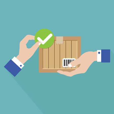 Checking,Logistics Concept,vector  イラスト・ベクター素材