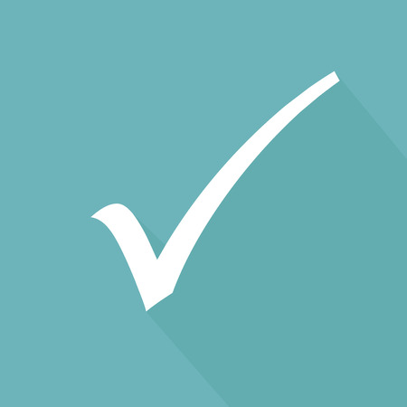 white check mark sign: Check mark symbol,blue version,vector