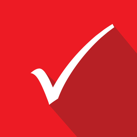 Check mark symbol,Red version,vector Vector