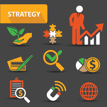 conference call: Strategy concept icons