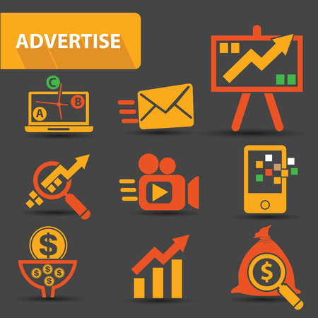Advertise icons Vector