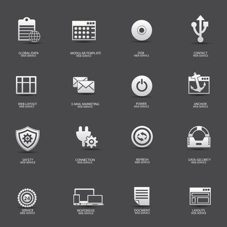 Web-service   web-design icons,vector Vector