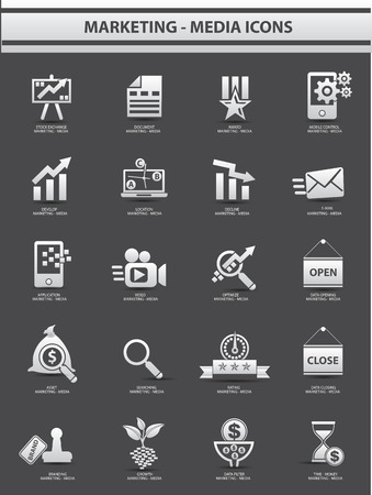 Marketing,Advertise icons,vector Vector