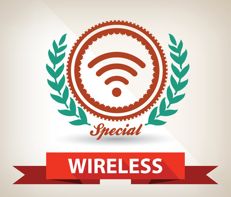 Wireless badge,vector Vector