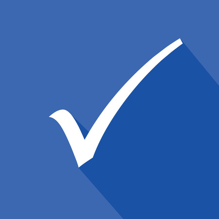 Check mark symbol,Blue version,vector Vector